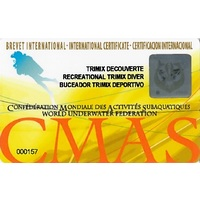 CMAS Recreational Trimix Diver -kurssin oppilaspaketti